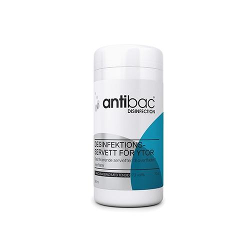 Antibac overflate mtensid Våtserviett 70%, 70stk | shop