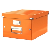 Oppbevaringsboks Click and Store, medium, Leitz WOW, Oransje