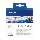 Etiketter - Brother DK11204 - sort/hvit 54mm x 17mm