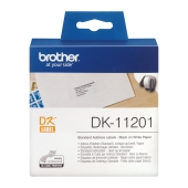 Etiketter - Brother DK11201 Adresseetikett - sort/hvit  90mm x 29mm
